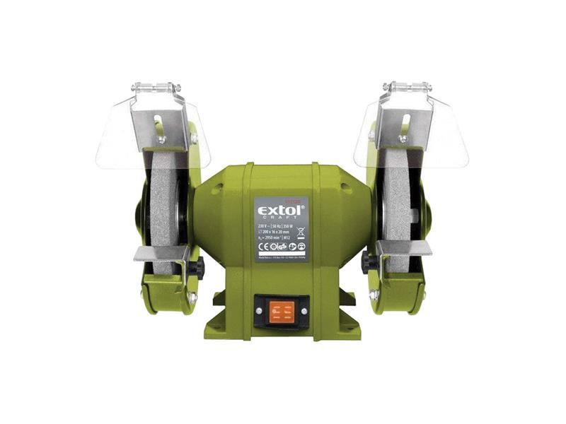 Bruska stolní dvoukotoučová 350W 200x16x š.20mm EXTOL CRAFT