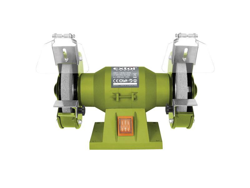 Bruska stolní dvoukotoučová 150W 125x12,7x š.16mm EXTOL CRAFT 410120