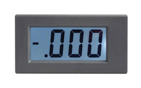 Panelové měřidlo 1A WPB5035-DC ampérmetr panelový digitální LCD s podsvícením